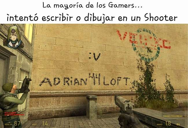 Intentaste escribir o dibujar en un shooter