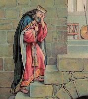 David's Grief Over Absolom (Bible Card)