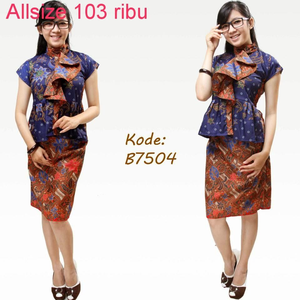 Model Baju Batik Semi Formal: Model Baju Batik Untuk Kerja Kantor