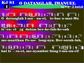 Lirik dan Not Kidung Jemaat 81 O, Datanglah, Imanuel