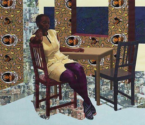 Art of the Day - Njideka Akunyili Crosby www.toyastales.blogspot.com #artist #fashionblogger #naturalista #NjidekaAkunyiliCrosby #painting