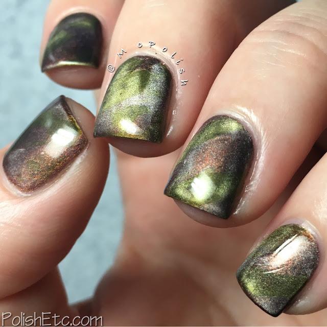 Metallic Camo using Masura magnetic polishes - McPolish - #31DC2016Weekly