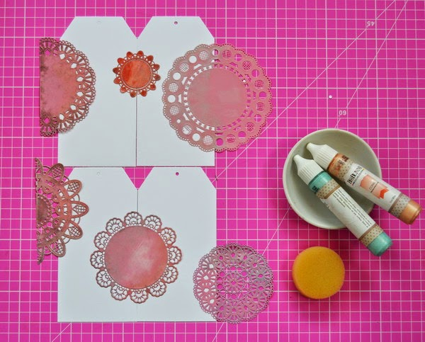 Tea Party Pretties by Denise van Deventer using BoBunny Cardstock and Pearlescents 12