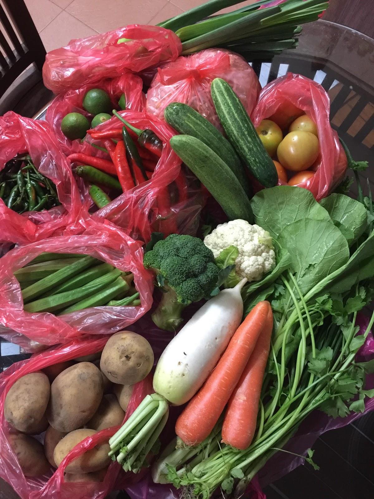 langkah berjimat, penjimatan, sayur-sayuran berkualiti