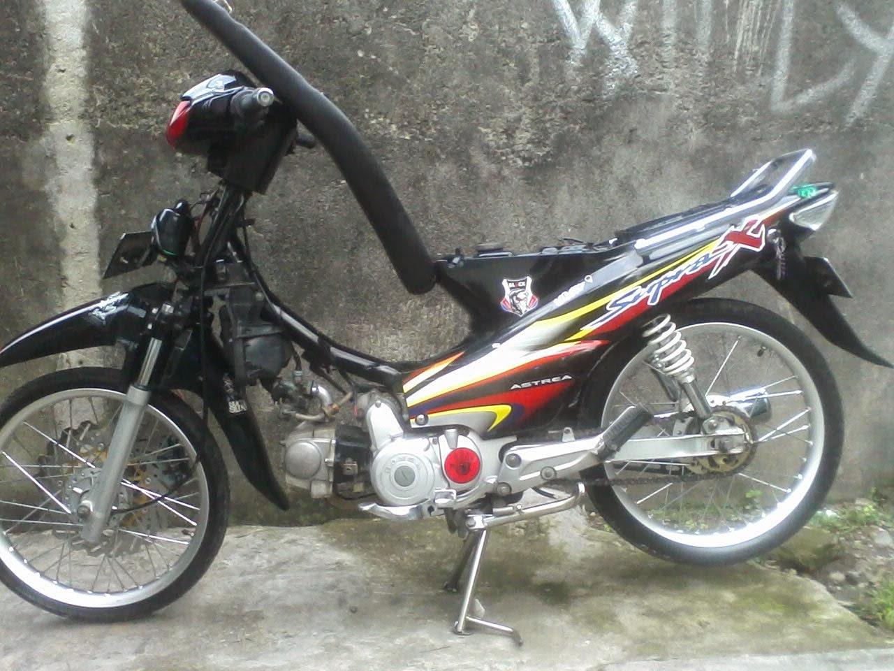 Modifikasi Striping Standar Supra X 125