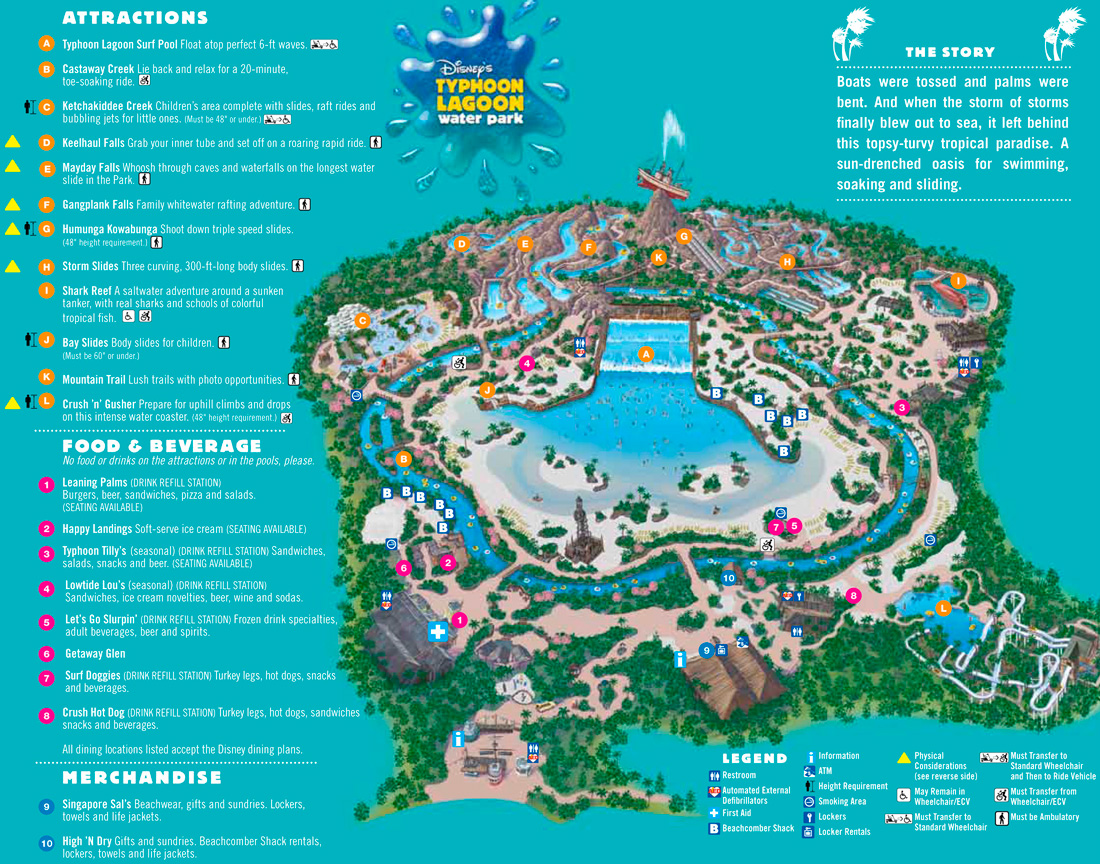 Mapa do Disney's Typhoon Lagoon 2018