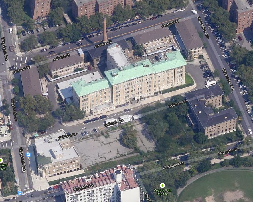 Greenpoint Hospital campus birds eye view