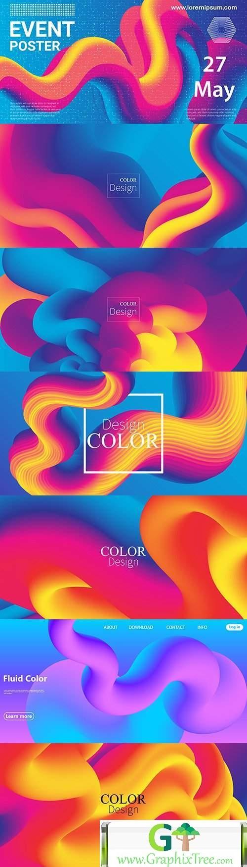 Liquid 3d abstract motion futuristic design background