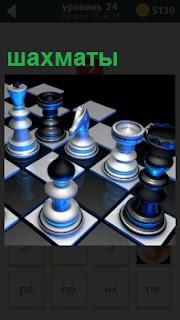 На шахматной доске установлены фигуры шахмат в определенной позиции для совершения очереного хода