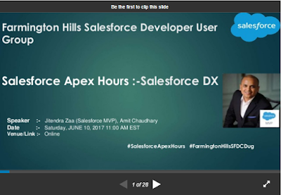 https://www.slideshare.net/AmitChaudhary112/salesforce-apex-hours-salesforce-dx