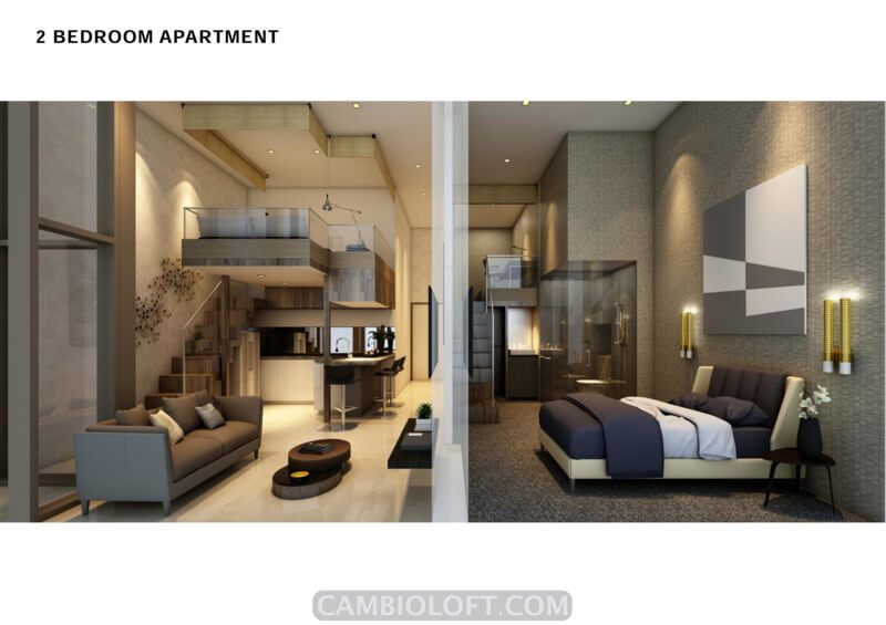 2BR Type Cambio Lofts Alam Sutera Apartment