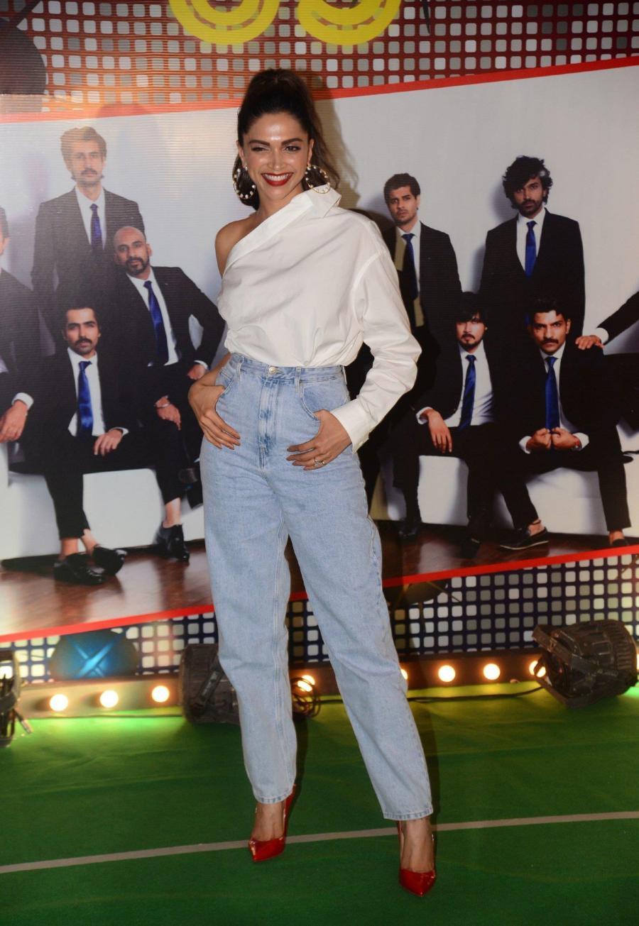 Actress Deepika Padukone At Wrapup Party Of Film 83 At BKC