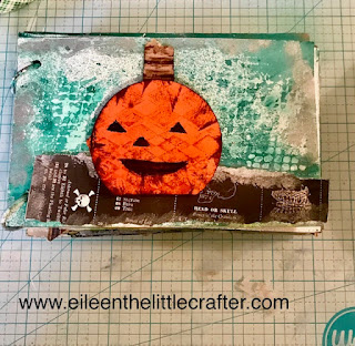 Mix media page - Photo taken by Eileen the little crafter.