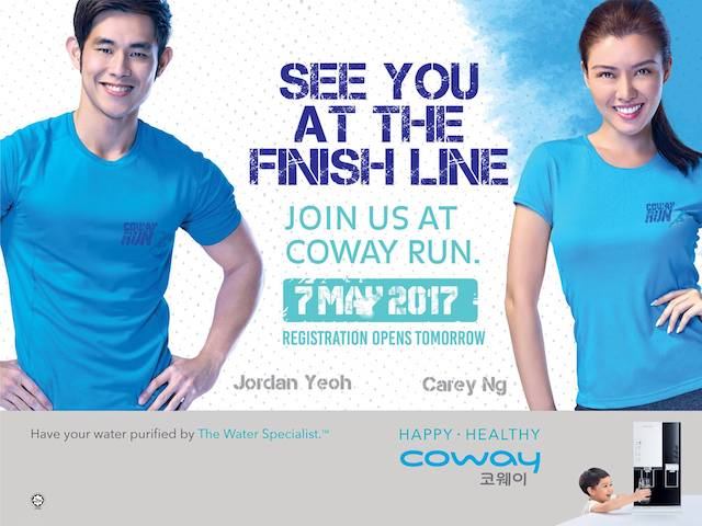Participants to the COWAY Run can expect to spot famous Malaysian fitness model Jordan Yeoh and former Miss Universe Malaysia Carey Ng