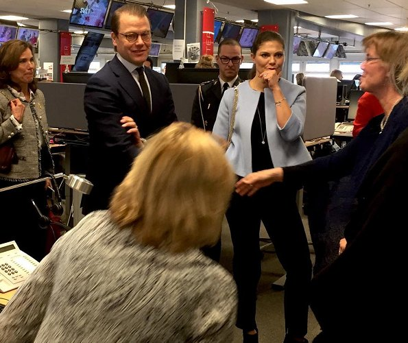 Crown Princess Victoria and Prince Daniel visited the Sveriges Television (SVT) headquarters and TV-Children's Channel in Gärdet