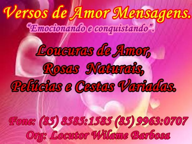 Versos De Amor: Versos De Amor Mensagens