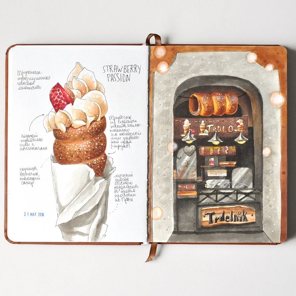 02-Prague-Sweet-Passion-Anna-Rastorgueva-Architecture-Travel-Journal-Urban-Sketches-Illustrations-www-designstack-co