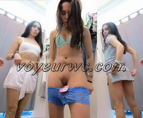 SpyCam 2206-2217 (Shopping Mall changing room. Hidden cam - pretty girls dress up)
