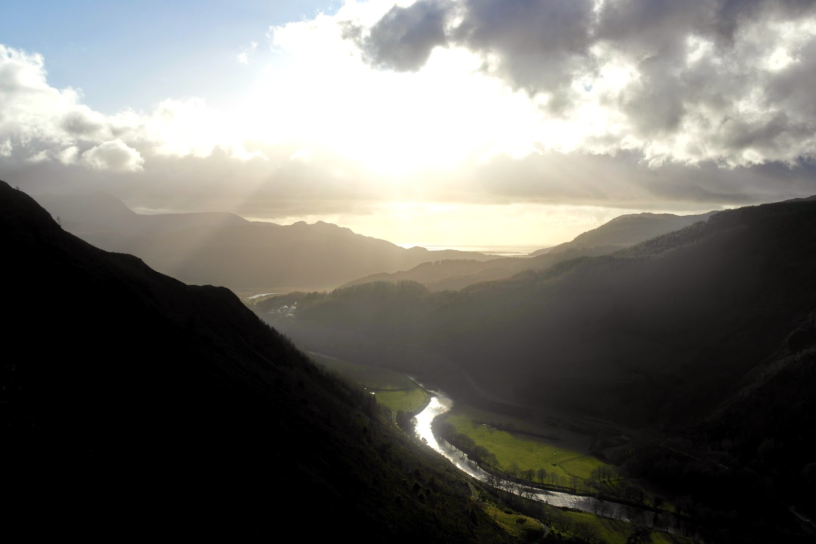 Precipice Walk, Snowdonia View of River Mawddach and Estuary