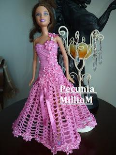 DIY - Croche Para Bonecas Barbie Vídeo Tutorial Vestido de Festa Modelo 1   Com Pecunia MillioM