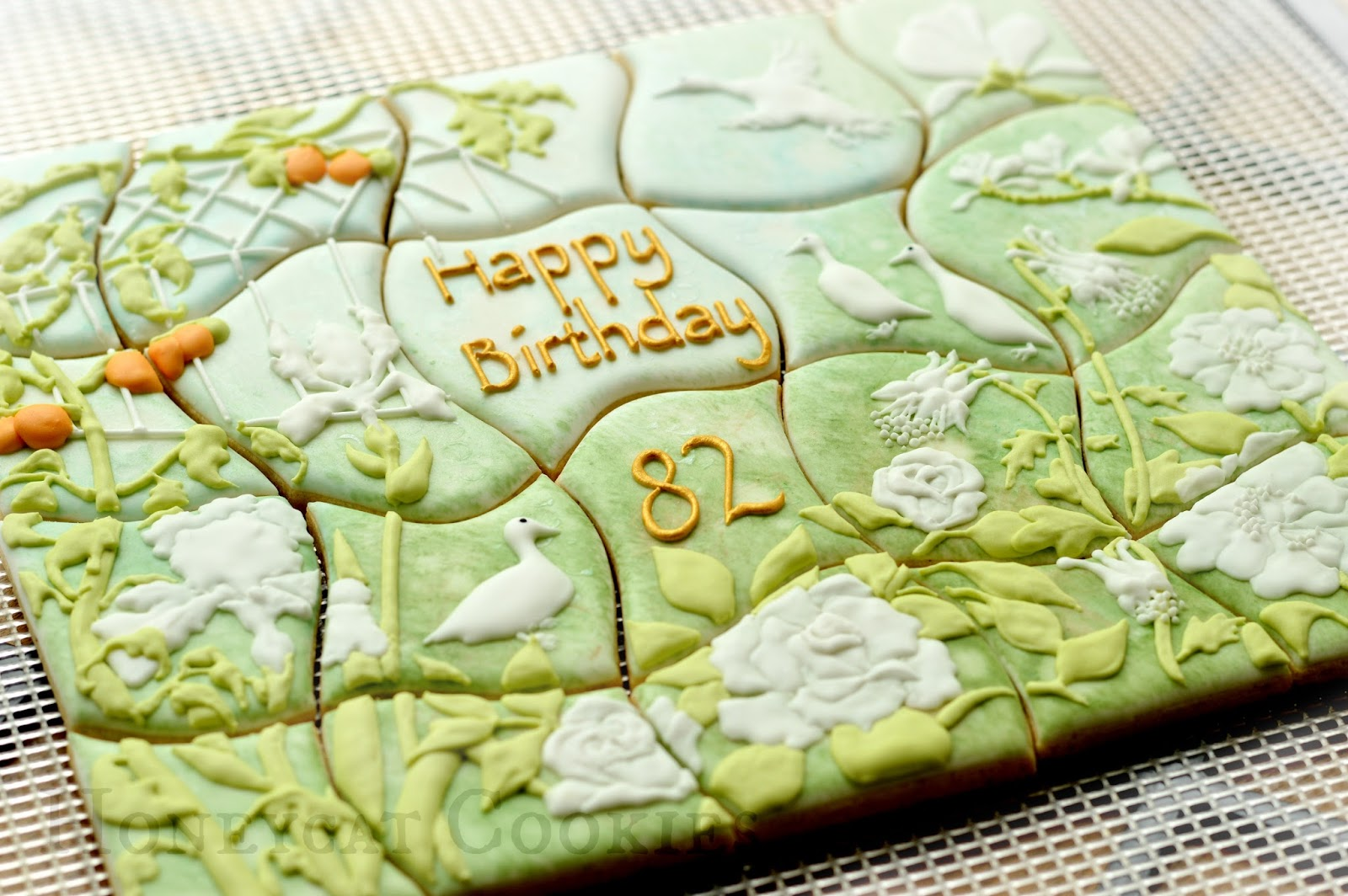 Garden Cookiesaw Cookie Jigsaw Puzzle Unpainted
