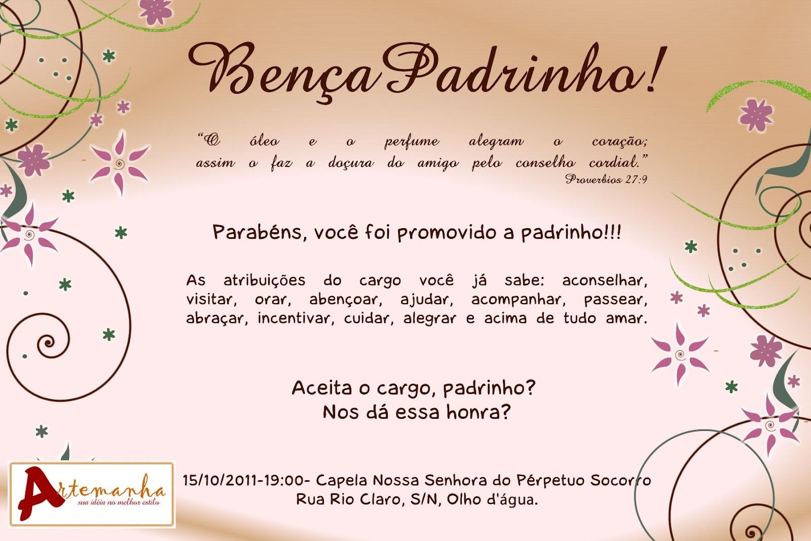 Frases Convite Casamento Padrinhos