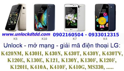 Chung toi se unlock mo mang Lg K4 K5 K7 K10 nhu the nao