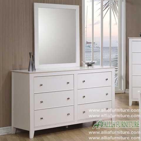 Meja rias kaca cermin klasik model vinoly - Allia Furniture