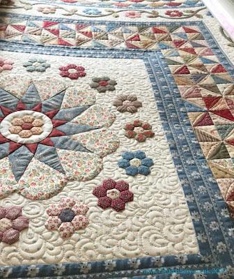 'Oakhampton' quilt detail Karen Styles Somerset patchwork