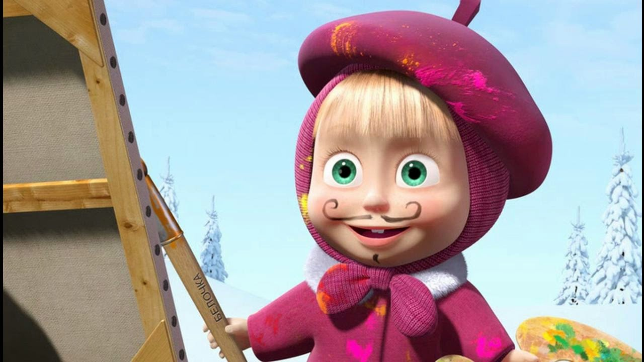 Wallpaper Atau DP BBM Masha And The Bear Lucu Khusus Android 2015