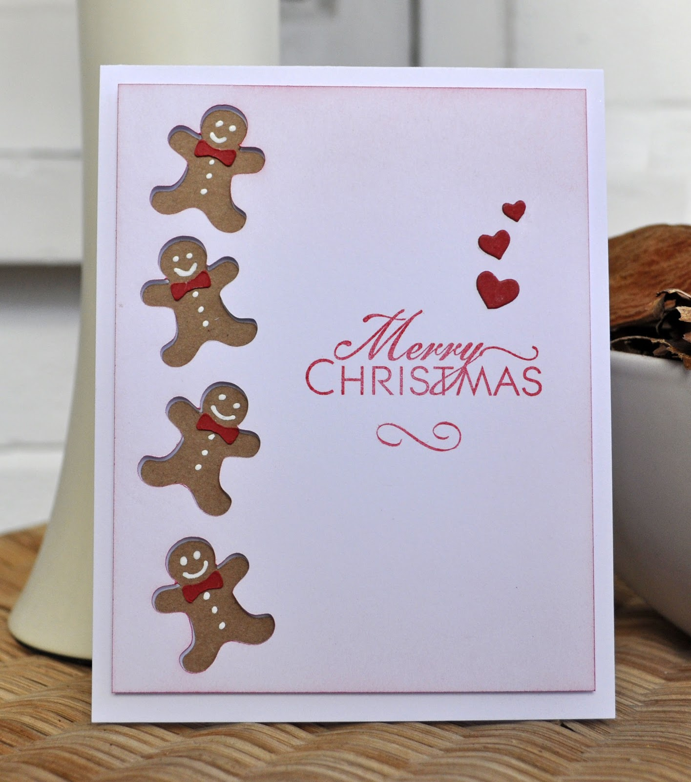 Inky Fingers Silhouette Cameo Christmas Cards
