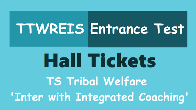 ttwreis entrance test hall tickets,online application form,selection list results,acknowledgement for 'inter with integrated coaching' 2018-2019