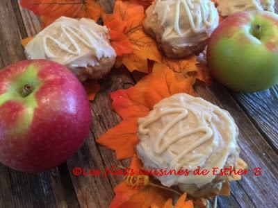 Biscuits aux pommes et sucre � la cr�me