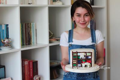 kitap okur pastası tuzla butik pasta