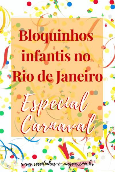 Bloquinhos infantis Carnaval Rio de Janeiro 2019