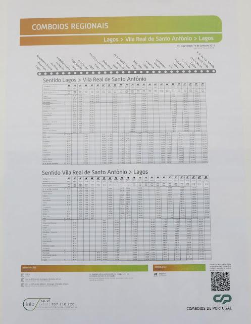 Vila Real de Santo Antonio Station timetable.
