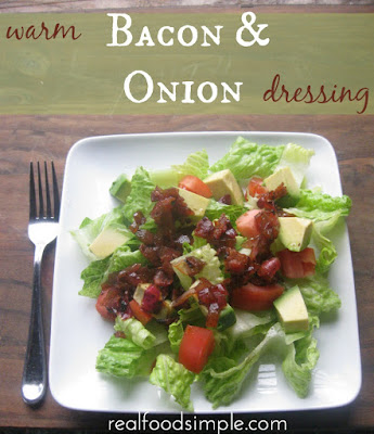 warm bacon and onion salad dressing