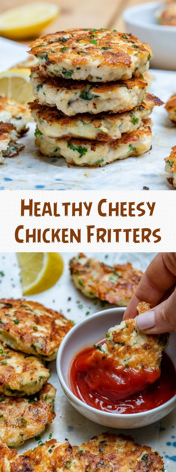 Healthy Cheesy Chicken Fritters