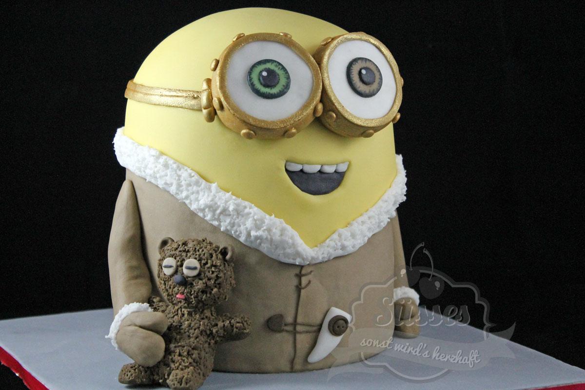 süßes sonst wird's herzhaft minion bob und sein teddy
