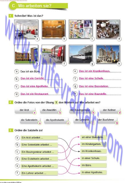 Almanca A1.2 Çıpa Yayınları Çalışma Kitabı Cevapları Sayfa 36
