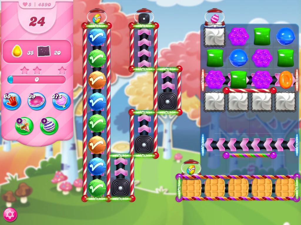 Candy Crush Saga level 4890