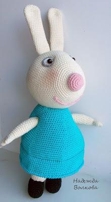 Кролик Ребекка амигуруми крючком