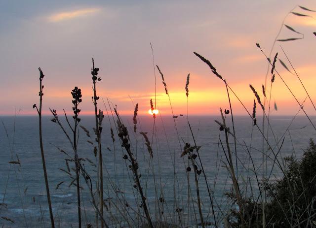 Puesta de sol desde el monte Louro