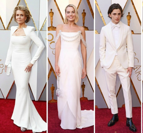White Trend on the Red Carpet 2018