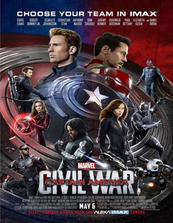 Captain America Civil War 2016 Multi Audio 999MB HDCAM [Hindi – English – Tamil]