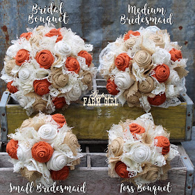 burnt orange wedding bouquets
