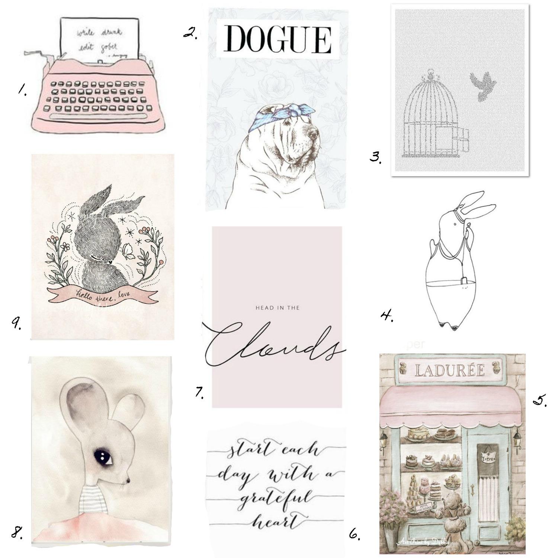 Etsy shabby chic print blog wish list
