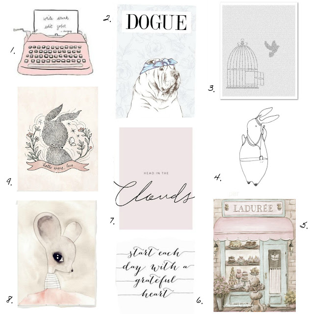 Etsy shabby chic print blog wish list