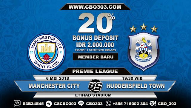 Prediksi Bola Manchester City VS Huddersfield Town 6 Mei 2018