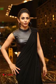 Actress Rakul Preet Singh Stills in Black Saree at Rayudu Movie Audio Launch  0023.JPG